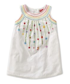 White Party Flower Dille Dress - oilily
