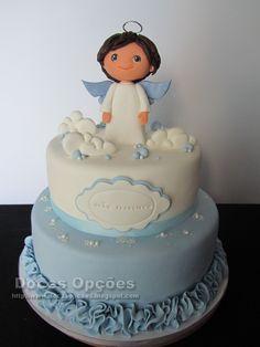 Resultado de imagem para bolos de comunhão cake design Baby Cakes, Baby Birthday Cakes, Girl Cakes, Baby Shower Cakes, Cupcake Cakes, My Dream Cake, Baptism Party Decorations, Confirmation Cakes, First Communion Cakes