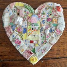Heart Mosaic  COTTAGE by susanjenkinsart on Etsy, $92.00