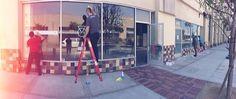 project intersect windows - clark design house. crossfit, long beach, vinyl stickers