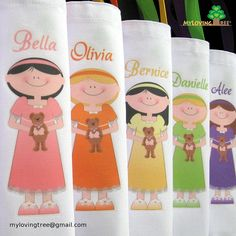 6 Personalized sleepover birthday or slumber party themed favors goody bags for girls, what a great idea!  $40 on etsy