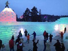 saranac lake ice castle -