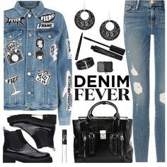 Denim Fever by deborah-calton on Polyvore featuring Frame, 3.1 Phillip Lim, Ross-Simons, Alor, Smashbox, NARS Cosmetics and Bobbi Brown Cosmetics