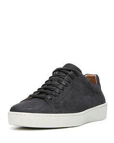 Carbon velour suede sneaker - mens  70599ddc5