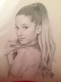 ♡ Follow Amazinggrace31 | Ariana Grande Drawing By Charlotte Oxenham