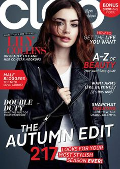 Cleo Magazine [New Zealand] (March 2014) Lily Collins