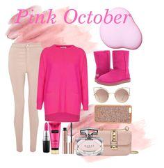 """Pink October!"" by minelafashion on Polyvore featuring moda, Miss Selfridge, Cocoa Cashmere, UGG, Valentino, MAC Cosmetics, Gucci, MANGO i Henri Bendel"