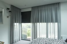 Wonderful Tricks: Vertical Blinds With Curtains grey bedroom blinds.Blinds For Windows Ikea grey bedroom blinds. Black Roller Blinds, Modern Roller Blinds, Modern Blinds, Modern Windows, Roller Shades, Sheer Curtains Bedroom, Bedroom Blinds, Voile Curtains, Bedroom Windows