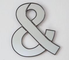 Ampersand Wall Mirror / Handmade Wall Mirror Letter by fluxglass, $64.00
