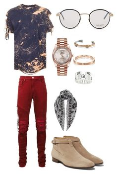 Stay classy and fresh by bashir-adekunle on Polyvore featuring polyvore, Topman, AMIRI, Yves Saint Laurent, Rolex, Alexander McQueen, David Yurman, Le Gramme, Gucci, men's fashion, menswear and clothing