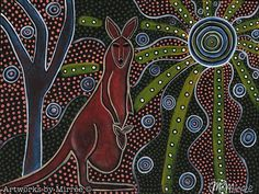 This is one-of-a-kind Original painting 'Kangaroo & Baby'. You will receive 1 Original Painting ready to hang, with 'Kangaroo & Baby' story pos. Aboriginal Dot Painting, Dot Art Painting, Original Paintings For Sale, Plate Art, Australian Artists, Art Google, Year 8, Artwork, African Culture