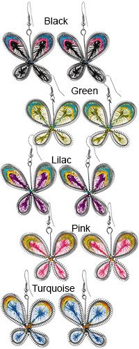 Art of Thread Butterfly Earrings at The Animal Rescue Site