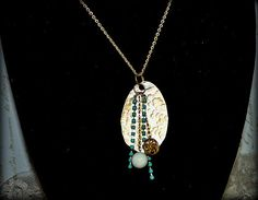 Beautiful Assemblage Hammered Spoon Necklace by MarileeYours, $27.00