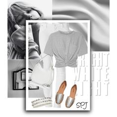 Bright White Denim by s-p-j on Polyvore featuring polyvore, Mode, style, T By Alexander Wang, Rebecca Minkoff, Aéropostale, Hudson Jeans, fashion and clothing