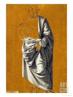 Study of Drapery for the Figure of Saint BartholomewBy Lorenzo di Credi Drapery Drawing, Fabric Drawing, Fabric Painting, Drawing Studies, Art Studies, Academic Art, Toned Paper, Illustration Art, Illustrations