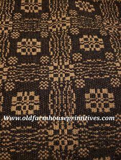#PCT13 Primitive Black And Tan Gettysburg Woven Textiles