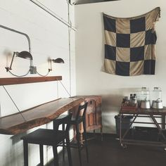 7 Apartment Decorating and Small Living Room Ideas Industrial Interior Design, Rustic Industrial, Barista Parlor, Industrial Light Fixtures, Cabinet Styles, Small Living Rooms, Exposed Brick, House Design, Nashville Tennessee