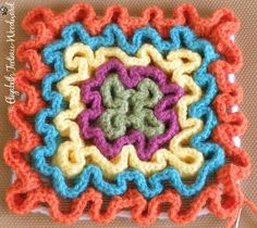 Free Crochet Pattern: Squiggly, Wiggly Crochet Technique. Really want to tackle this technique in the near future!