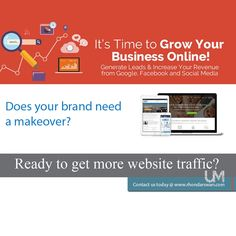 It's time to grow your business online. Contact us today! #BeUnstoppable #mediaandthecity #brandit #UnstoppableMomma #Entrepreneur #PersonalBranding #SocialMediaStrategist #HowToPersonallyBrandYou #HowToBecomeAnAuthorityInYourNiche #OnlineMarketingStrategiesForNewbies #PersonalBrandingStrategiesForBusiness #BecomeAnAuthority @bonniebruderer @mediaandthecity @rhondarswan @askbonbon