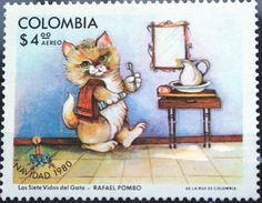 catsonstamps:   Colombia - Navidad (Christmas) - 1980 by Кот Ученый