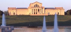 The St. Louis Art Museum's iconic Beaux Art building, designed by architect Cass Gilbert around the 1904 World's Fair overlooks the Grand Basin in Forest Park.