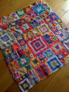 I can only crochet square things. or 4 sided things. But holy cow! This is so cute and would use up tons of small leftover yarn bits