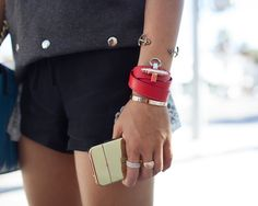 Obsedia Leather Wrap Bracelet by Givenchy.