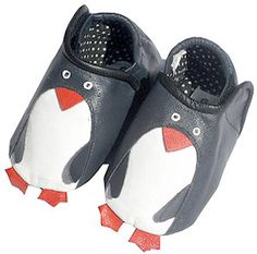 Leather Penguin Baby Booties haha! Okay I will stop now haha