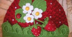 Adorable crocheted hat. | crocheted stuff | Pinterest | Crocheted Hats, Hats and Strawberries