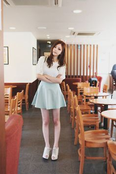 도회지  Great Ulzzang outfit and cute skirt