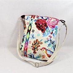 kabelka jako malovaná kabelka originální dárek taška ptáček jaro barevná malá kabelka