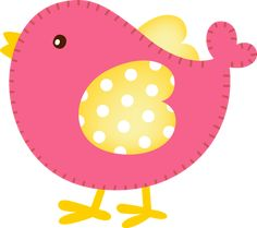PINK birdie makes me smile ☺ Bird Clipart, Cute Clipart, Baby Girl Quilts, Girls Quilts, Pebble Painting, Fabric Painting, Applique Patterns, Applique Designs, Ideas Habitaciones