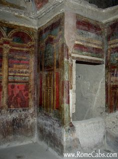 """Pompeii frescoes showing use of perspective ~ they were actually quite accomplished at the art of """"Trompe l'Oeil"""""""