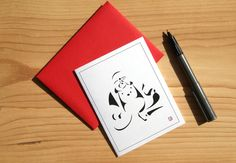 Buddha Card  Greeting Card  Invitation  Thank You by Sabastica