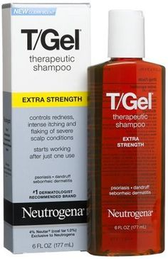 $11.29-$10.29 Neutrogena T-Gel Therapeutic Shampoo, Extra Strength, 6 Ounce - T/Gel Therapeutic Shampoo Extra Strength effectively controls the most resistant scalp conditions with twice the amount of active ingredient.   This dermatologist-recommended formula contains Neutar, a patented ingredient that is proven to deliver effective scalp therapy for hours after the shampoo is rinsed out. Its ric ...