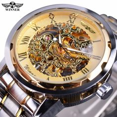 $16.99 (Buy here: https://alitems.com/g/1e8d114494ebda23ff8b16525dc3e8/?i=5&ulp=https%3A%2F%2Fwww.aliexpress.com%2Fitem%2FWinner-Classic-Retro-Roman-Design-Transparent-Case-Golden-Movement-Inside-Skeleton-Men-Watches-Top-Brand-Luxury%2F32709173644.html ) Winner Classic Design Transparent Case Golden Movement Inside Skeleton Wrist Watch Men Watches Top Brand Luxury Mechanical Watch for just $16.99