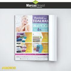 Anúncio de Revista – Sinhá Moça  > Desenvolvido para divulgação do Festival das Toalhas. <  #tabloide #marcasbrasil #agenciamkt #publicidadeamericana