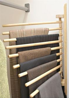Do It Yourself Idea. awesome idea for hanging pants
