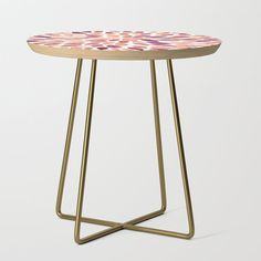 """From sideshow to show-stopper, our side tables will be a stunning modern accent to your space. Selecting from our wide array of artist's designs printed with a satin finish on birch wood, you'll take any room from zero to a hundred. Available in a square or round table top, and black or gold leg colors. - Square: 19"""" x 19"""" x 19"""" (H) - Round: 19"""" (diameter) x 19"""" (H) - Baltic birch table top with beveled edge - High quality print with sat... Blue Side Table, White Side Tables, Round Table Top, Mondrian, Sideshow, Baltic Birch, Satin Finish, Mid-century Modern, Gold"""
