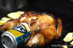 Easy Beer Can Chicken recipe! ON THE GRILL! No mess and moist and perfect, EVERY TIME!