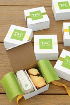 Favor idea: tea and cookies