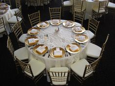 Image result for round tables champagne wedding decor
