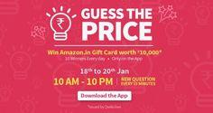 Amazon Guess The Price Answer : Amazon 19 January Guess The Price Answer - Best Online Offer