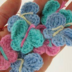 Hand Crocheted Butterflies for little girl baby gifts - if all my friends weren't having boys