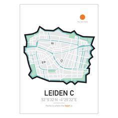 Poster   City   Leiden   Maps   Travel