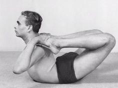 1940s: B.K.S Iyengar demonstrating yoga asana.  #VintageYoga #BKSIyengar #IyengarYoga #YogaAsana #Asana #YogaHistory #YogaGuru