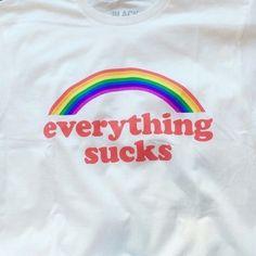 rainbow, red, retro, style, t-shirt