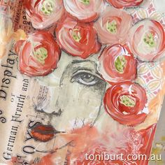 Art journal spread - mixed media acrylics pencil old vintage papers.work in progress. Mixed Media Journal, Mixed Media Canvas, Mixed Media Collage, Collage Art, Romeo Britto, Art Journal Pages, Art Journals, Art Doodle, Mixed Media Faces
