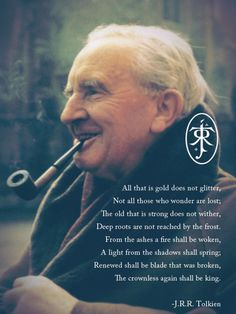 A picture of J.R.R. Tolkien, the author.