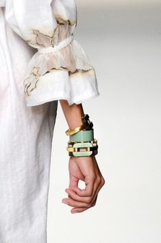 bracelets...also what looks like singed fabric....beautiful